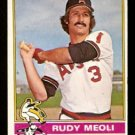 CALIFORNIA ANGELS RUDY MEOLI 1976 TOPPS # 254 VG