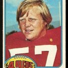 SAN FRANCISCO FORTY NINERS FRANK NUNLEY 1976 TOPPS # 182 EX