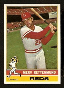 CINCINNATI REDS MERV RETTENMUND 1976 TOPPS # 283 VG