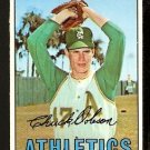 KANSAS CITY ATHLETICS CHUCK DOBSON 1967 TOPPS # 438 EX/EM