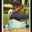 KANSAS CITY ROYALS JIM WOHLFORD 1976 TOPPS # 286 good