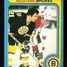 BOSTON BRUINS DON MARCOTTE 1979 OPC O PEE CHEE # 99 VG+/EX