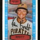 PITTSBURGH PIRATES KEN BRETT 1975 KELLOGGS 3-D SUPER STARS # 52 NR MT cracked