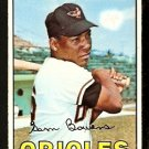 BALTIMORE ORIOLES SAM BOWENS 1967 TOPPS # 491