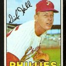 PHILADELPHIA PHILLIES DICK HALL 1967 TOPPS # 508 VG/EX