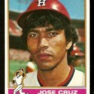HOUSTON ASTROS JOSE CRUZ 1976 TOPPS # 321 VG+