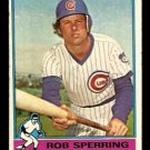 CHICAGO CUBS ROB SPERRING 1976 TOPPS # 323 EX