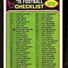 CHECKLIST 265-396 1976 TOPPS # 273 EX one box marked