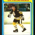 BOSTON BRUINS BRAD PARK RECORD BREAKER 1979 TOPPS # 164 EX
