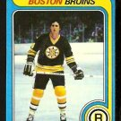 BOSTON BRUINS BOB MILLER ROOKIE CARD RC 1979 TOPPS # 196 EX MT