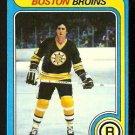 BOSTON BRUINS BOB MILLER ROOKIE CARD RC 1979 TOPPS # 196 EX MT