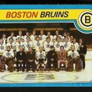 BOSTON BRUINS TEAM CARD 1979 TOPPS # 245 VG marked cl