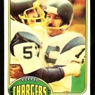 SAN DIEGO CHARGERS RAY WERSCHING 1976 TOPPS # 304 EX+/EX MT