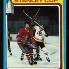 STANLEY CUP SEMI-FINALS BOSTON BRUINS vs MONTREAL CANADIENS 1979 TOPPS # 81 VG+/EX