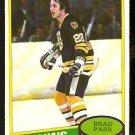 BOSTON BRUINS BRAD PARK 1980 OPC O PEE CHEE # 74 EX/EM