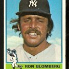 NEW YORK YANKEES RON BLOMBERG 1976 TOPPS # 354 EX+