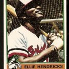 BALTIMORE ORIOLES ELLIE HENDRICKS 1976 TOPPS # 371 VG
