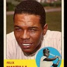 BOSTON RED SOX FELIX MANTILLA 1963 TOPPS # 447 EX MT