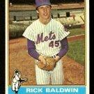 NEW YORK METS RICK BALDWIN 1976 TOPPS # 372 VG/EX