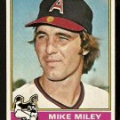 CALIFORNIA ANGELS MIKE MILEY 1976 TOPPS # 387 VG
