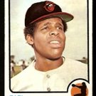 BALTIMORE ORIOLES EARL WILLIAMS 1973 TOPPS # 504 good