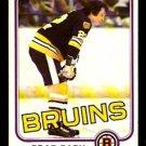 BOSTON BRUINS BRAD PARK 1981 OPC O PEE CHEE # 8 NR MT