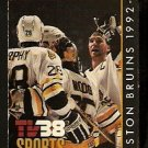 1992 BOSTON BRUINS POCKET SCHEDULE ANDY MOOG DAVE POULIN