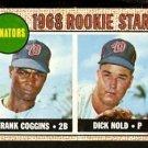 WASHINGTON SENATORS ROOKIE STARS FRANK COGGINS DICK NOLD 1968 TOPPS # 96