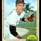BALTIMORE ORIOLES TOM PHOEBUS 1968 TOPPS # 97 good