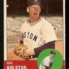 BOSTON RED SOX HAL KOLSTAD 1963 TOPPS # 574 G/VG