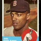 BOSTON RED SOX EARL WILSON 1963 TOPPS # 76 EX