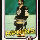 BOSTON BRUINS DWIGHT FOSTER 1981 TOPPS # E 67 NR MT
