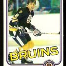 BOSTON BRUINS PETER McNAB 1981 TOPPS # E 69 NR MT