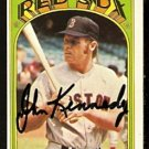 BOSTON RED SOX JOHN KENNEDY AUTOGRAPHED 1972 TOPPS # 674