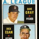 1964 TOPPS # 572 AMERICAN LEAGUE ROOKIE STARS BOSTON RED SOX DAVE GRAY DETROIT TIGERS DICK EGAN NM