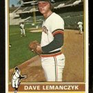 DETROIT TIGERS DAVE LEMANCZYK 1976 TOPPS # 409 EX