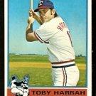 TEXAS RANGERS TOBY HARRAH 1976 TOPPS # 412 NR MT