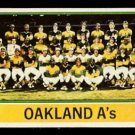 OAKLAND ATHLETICS TEAM CARD 1976 TOPPS # 421 UNMARKED CL