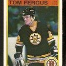 BOSTON BRUINS TOM FERGUS ROOKIE CARD RC 1982 OPC O PEE CHEE # 11 NR MT