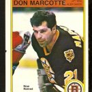 BOSTON BRUINS DON MARCOTTE 1982 OPC O PEE CHEE # 14 NR MT