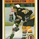 BOSTON BRUINS RICK MIDDLETON 1982 OPC O PEE CHEE # 15 EX