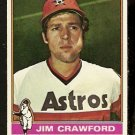 HOUSTON ASTROS JIM CRAWFORD 1976 TOPPS # 428 VG