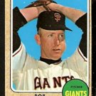 SAN FRANCISCO GIANTS BOB BOLIN 1968 TOPPS # 169 VG