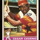 HOUSTON ASTROS CESAR CEDENO 1976 TOPPS # 460 VG