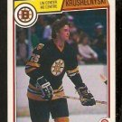 BOSTON BRUINS MIKE KRUSHELNYSKI ROOKIE CARD RC 1983 OPC O PEE CHEE # 52