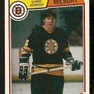 BOSTON BRUINS MIKE MILBURY 1983 OPC O PEE CHEE # 55 NR MT