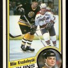 BOSTON BRUINS MIKE KRUSHELNYSKI 1984 TOPPS # 6 NR MT/MT SHORT PRINT