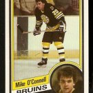 BOSTON BRUINS MIKE O'CONNELL 1984 TOPPS # 9 NR MT/MT