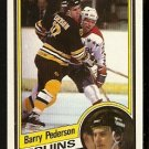 BOSTON BRUINS BARRY PEDERSON 1984 TOPPS # 11