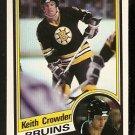 BOSTON BRUINS KEITH CROWDER 1984 O PEE CHEE OPC # 2